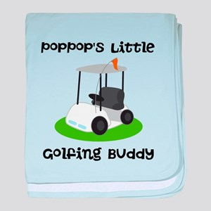 Personalized Golf baby blanket